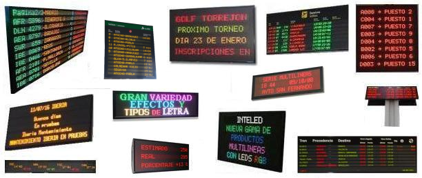multi lines led signs